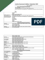 DP1 Summative Assessment Syllabus September 2019