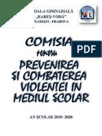 Dosar Combaterea Violentei 2019-2020