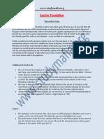 NT Sachin Tendulkar PDF