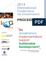 Proceeding International Conference on Governance 2014