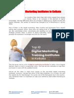 Top 10 Digital Marketing Institutes in Kolkata