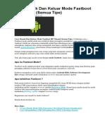 Cara Masuk Dan Keluar Mode Fastboot HP Xiaomi.docx