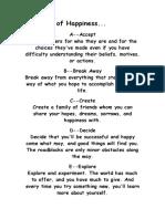Alphabet of Happiness