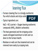 On furnace cleaning flux