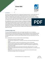 ASQ Detail Overview Lean Six Sigma Green Belt_ASQ_LSSGB01MS