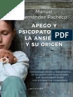 Apego y Psicopatología ( La Ansiedad en Su Origen)