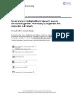 Social and psychological heterogeneity among binary transgender non binary transgender and cisgender individuals.pdf