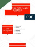 Estrategia para un plan de Gobierno.