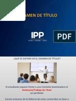 EXAMEN DE TITULO IPP