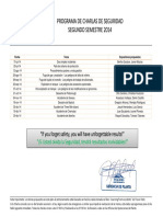 Charlas de Seguridad 2014