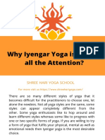 Why Iyengar Yoga is getting all the Attention?