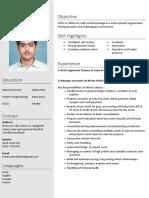NEW FORMAT CV