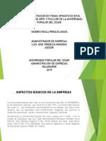 Diapositivas Plan de Capacitación en Temas Ofimáticos en El Departamento de Arte y Folclor de La Universidad Popular Del Cesar
