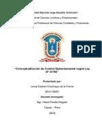 Conceptualización de Control Gubernamental según Ley Nº 27785.docx