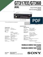 Manual Sony Cdxgt360s