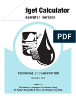 Oil Budget Calculator for Deepwater Horizon