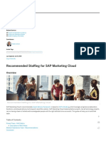 CX Works _ Recommended Staffing for SAP Marketing Cloud