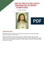 JESUS CHRIST IS THE FULFILMENT OF  PROPHECIES IN HINDU SCRIPTURES