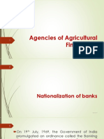 2. Agencies of Agricultural Finance - II