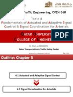 Topic 4, Signal Coordination(1)