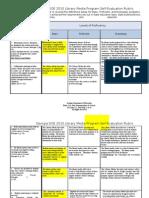 Georgia DOE 2010 Library Media Program Self-Evaluation Rubric