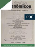Estudos Econômicos v. 13 n. 1 (1983) - Economia Escravista Brasileira
