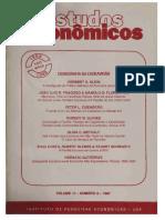 Estudos Econômicos v. 17 n. 2 (1987) - Demografia Da Escravidão