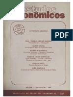 Estudos Econômoicos v. 17 n. Especial (1987) - O Protesto Escravo I