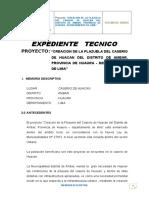 Memoria Descriptiva Plazuela Huacan