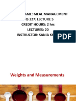 weight  and measurements