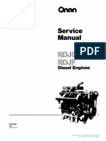 974-0753 Onan RDJC RDJF Diesel Engine Service Manual (09-1984)