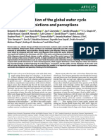 Human domination of the global water cycle absent from depictions and perceptions
