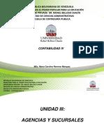 Agencias y Sucusales - Ejercicio #01