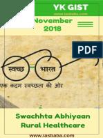 UPSC IAS IASbaba Yojana Kurukshetra Gist NOVEMBER 2018