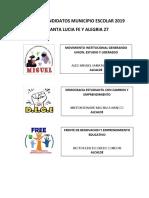 Lista de Candidatos Municipio Escolar 2019