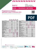 Info Trafic Axe b _ Tours-Vierzon-bourges (Nevers) Du 12-12-2019