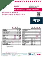 Info Trafic Axe j _ Orleans-Vierzon-Argenton S_c (Limoges) Du 12-12-2019