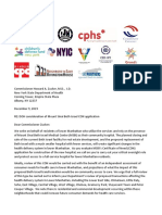 Coalition Letter to NYS DOH Re MSBI CON