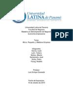 Economía Empresarial - Pymes en Panama