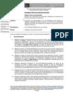 Informe de admisibilidad