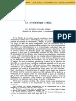 Serrano Gómez, Alfonso. 2013. La criminología crítica