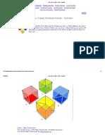 Four Cubes Outlines Puzzle - Solution