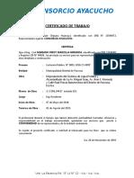 Certificado Consorcio Ayacucho