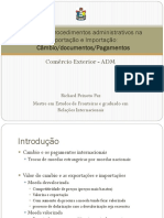 Rotinas e Procedimentos Administrativos Na Exportação e Importação
