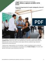 04-08-2019 Entrega Héctor Astudillo obras y apoyos sociales en la Costa Chica de Guerrero.