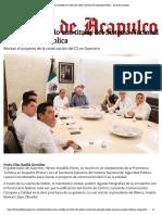 06-08-2019 Se reúne Astudillo con titular del Sistema Nacional de Seguridad Pública.