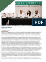 09-08-2019 Instalan Héctor Astudillo y Luisa Alcalde Comisión para Reforma Laboral.