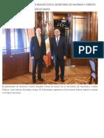 24-09-2019 Héctor Astudillo Flores se reunió con el Secretario de Hacienda y Crédito Público, José Antonio González Anaya.