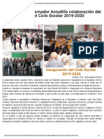 26-08-2019 Reconoce el gobernador Astudillo colaboración del SNTE en inicio del Ciclo Escolar 2019-2020.