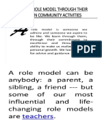 Teacher as a Role Model Through Their Participation in Community Activities